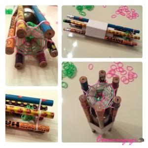 Homemade Hexafish Loom Maker